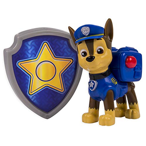 PAW PATROL – Action Pack – Chase – Figurine Sac à Dos et Badge