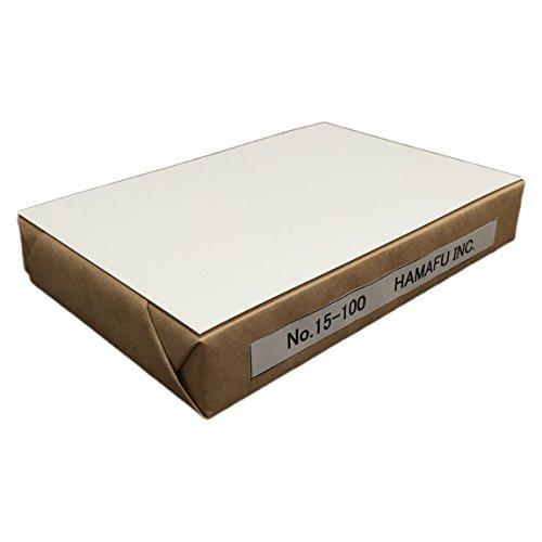 No.15-100 白色 両面無地ハガキ 厚手 (100x148) 【100枚】 ハムのQSLカードやDMに、しっかりとした厚みです。