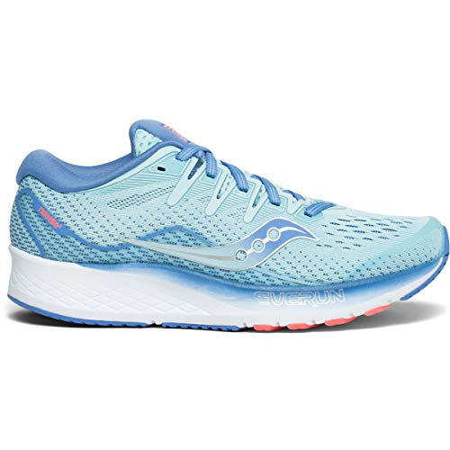 Saucony Women's Ride ISO 2 Athletic Shoe, Blue/Coral, 10 M US