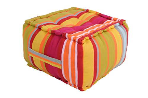 Lovely Casa C81106005 Ventura - Pouf in Cotone, 40 x 40...
