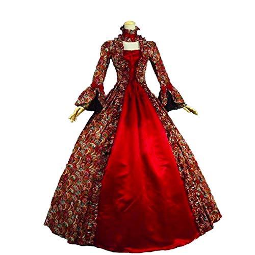 """KEMAO - Disfraz de Rococo Victoriano para Mujer (Medium:Altura 65/67"""" Pecho 36/37"""" Cintura 28/29"""", Rojo)"""