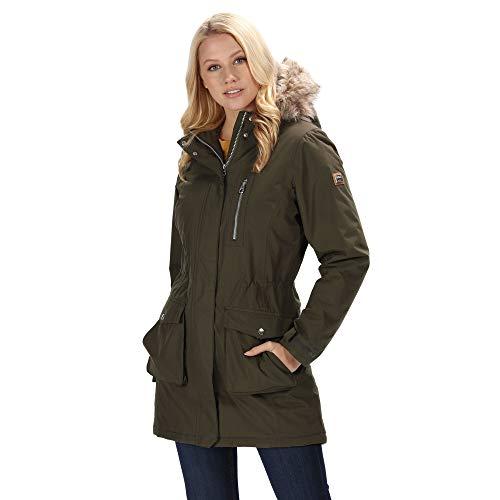 Regatta Serleena - Parka con capucha para mujer, impermeable y...
