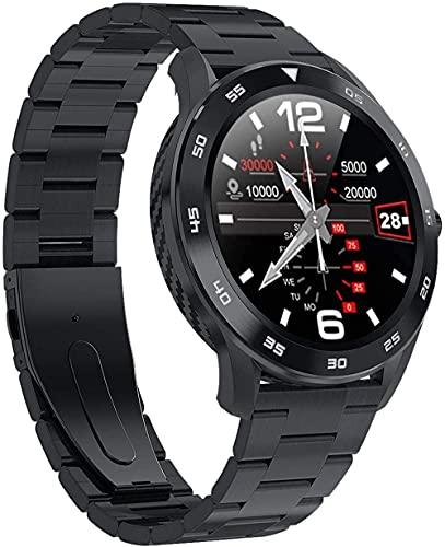 Hombres s negocio reloj inteligente moda pulsera paso calorías contador múltiples deportes fitness seguimiento sueño monitoreo funciones-negro