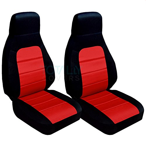 Totally Covers Compatible with 1990-2000 Mazda MX-5 Miata Seat Covers: Black and Red (22 Colors) Bucket