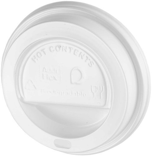We Can Source It Ltd - White Plastic Sip-Tough Lids For Paper Coffee Tea Cups, Disposable, Pack of 100 lids, Capacity- 10oz, 12oz, 16oz, 20oz Drinkware