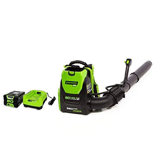 Greenworks 80V 145MPH - 580CFM Cordless Backpack...