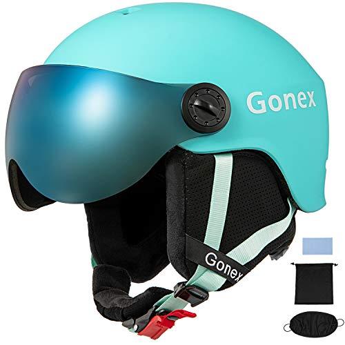Gonex ASTM Certified Ski Helmet with Detachable Goggles, Winter Snow Snowboard Helmet Windproof...