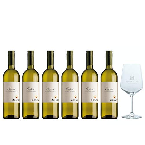 Sparpaket Zenato Bianco di Custoza DOC 2019 (6 x 0,75l) mit Spiegelau Senti Vini Weinglas