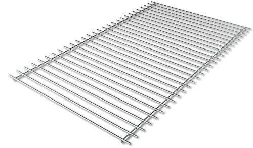 Griglia per barbecue in acciaio inox europeo 60x37 cm.