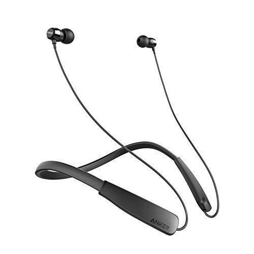 Soundbuds Anker Rise Outdoor Activity Style Sports Bluetooth Wireless In-Ear Earbuds with Lightweight Neckband Headset, IPX5 Water Resistant Earbud Headphones with Built-in Mic