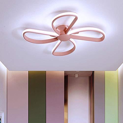ZZOOK Plafondlamp, creatief, schattig, mooi licht, warm licht, wit, acryl, metaal, aluminium, decoratieve plafondlampen voor woonkamer, spots, slaapkamer, verlichting, Ø 50 cm