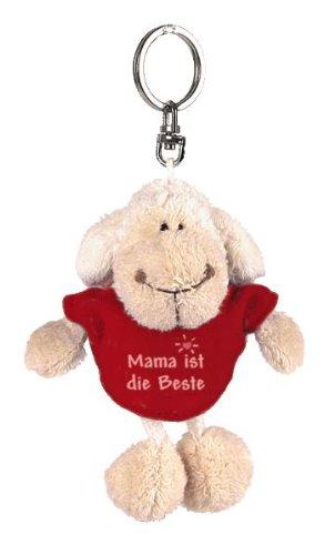 Nici 31552 - Llavero de oveja blanca con camiseta'Mama ist die Beste'(mejor madre) (10 cm)