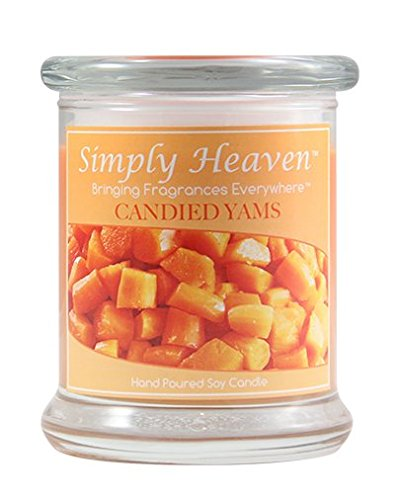 Simply Heaven Candied Yams Soy Candle | Richly Scented & 100% Soy Based | Hand Poured 100% Soy Wax Candle | Two-Wick Design Safe & Portable Jar | Long Burning 45-60 Hours (9 Oz)