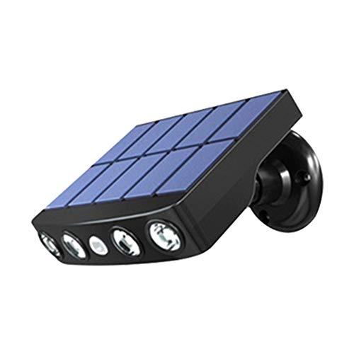 TreeLeaff Lámpara solar de calle, luces de pared al aire libre, detección de movimiento, 3 modos, energía solar