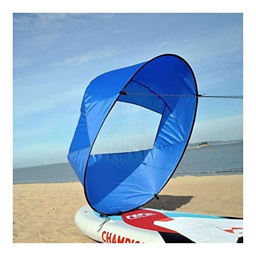 IGOSAIT Agradable Kayak Plegable del Viento Vela Paddle Board 108cm Vela Canoas Barcos palada de Remo Ventana Clara Barco Accesorios Marinos Cómodo (Color : Blue)