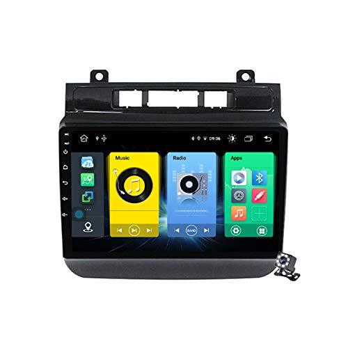 Buladala Android 10 GPS Navigation Stereo Radio para VW Touareg FL NF 2010-2018, 9' Pantalla Coche Media Player Soporte Carpaly/5G FM RDS/Control Volante/Bluetooth Hands-Free,7862: 4+64