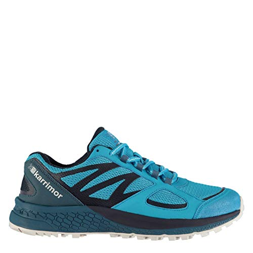 Karrimor Mens Tempo 5 Trail Running Shoes Runners Lace Up Lightweight Mesh Upper Blue UK 7 (41)
