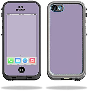 MightySkins Protective Vinyl Skin Decal Compatible with LifeProof iPhone 5C Case fre Case wrap Cover Sticker Skins Solid Lavender