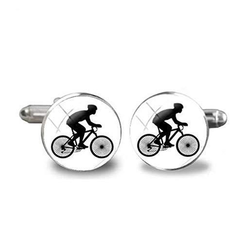 Bicycle Cufflinks Bike Wheel Mountain Cufflink Cyclist Racing Bicycle Racer Mens Accessories Cuff Link