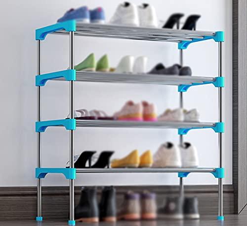 LYYJF Estante Zapatero, Estante para Zapatos, para 12 Pares de Zapatos, para Tacones Botas, en la Entrada, Sala de Estar, Dormitorio,Azul