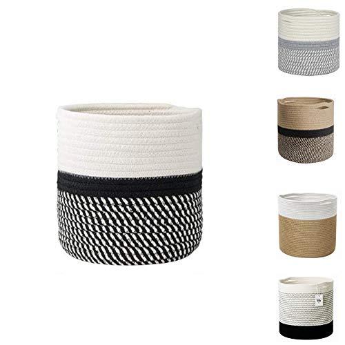 WUHUAROU Macetero de cuerda de algodón para plantas, cesta para plantas, cesta...