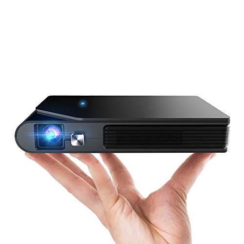 Mini Projector Portable,8400mAh Battery Powered WiFi Projector for Outdoor Movie Travel Home Entertainment TV DVD Laptop PS4 Smart Phone,Wireless DLP Projector Support Airplay 3D Video Auto Keystone