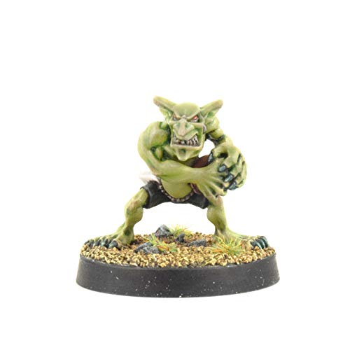 War World Gaming Gutrot Greenskins - Shifty el Receptor - 28mm, Miniaturas, Fantasía, Futbol, Blood Bowl, Goblin, Criatura Fantastica, Figura Coleccionismo