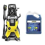 Karcher K5 Premium Electric Power Pressure Washer, 2000 PSI, 1.4 GPM & Car Wash & Wax Soap for Pressure Washers, 1 Gallon