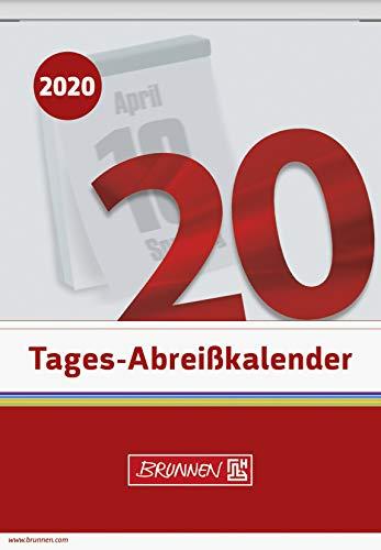 BRUNNEN 1070313 Tages-Abreißkalender (Nr. 13, 1 Seite = 1 Tag, 98 x 142 mm, Kalendarium 2020)