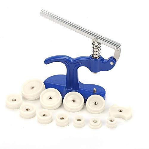 Professionelle Einpresswerkzeug und Uhrenschließer (Königsblau), Armbanduhr Rückseite Drücken und beiläufig 12 stirbt (weiß)