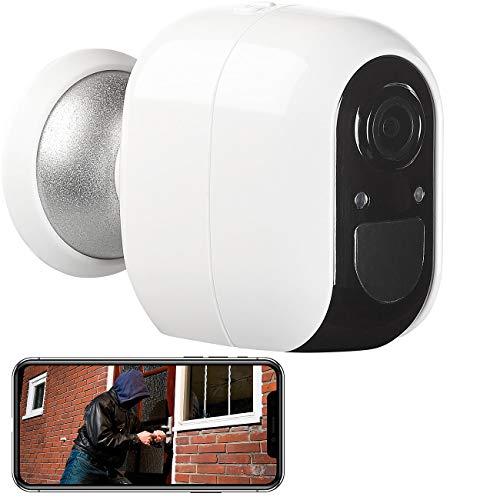 VisorTech IP Cam Outdoor: IP-Überwachungskamera, Full HD, WLAN & App, Batterie-Betrieb, IP54 (IP-Überwachungskamera Outdoor)