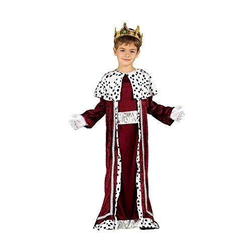 GUIRMA 42426 - Disfraz Infantil de Rey Magio, Color Rojo y Blanco, 5-6 años