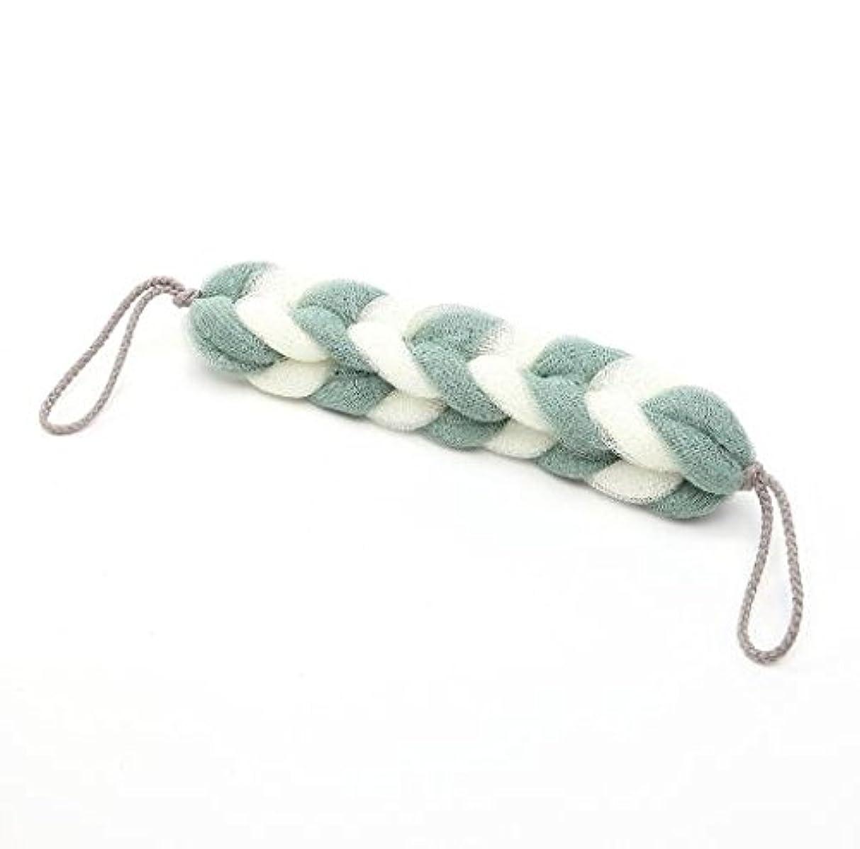シネウィ帆息苦しいICOUCHI ボディースポンジ 背中も洗えるシャボン ボディウォッシュ シャワースポンジ 柔らかい泡立てネット ストラップ付き 棒型