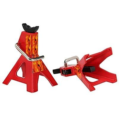 Huangou ?? Metal Jack ?? 2 Pcs 6TON Scale Adjustable Height Metal Jack Stand Repairing Tool for 1/10 Car