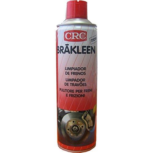 CRC – Spray Brakleen nettoyant/dégraissant, totalement évaporable, dépourvu de solvants chlorés, séchage rapide, 500 ml