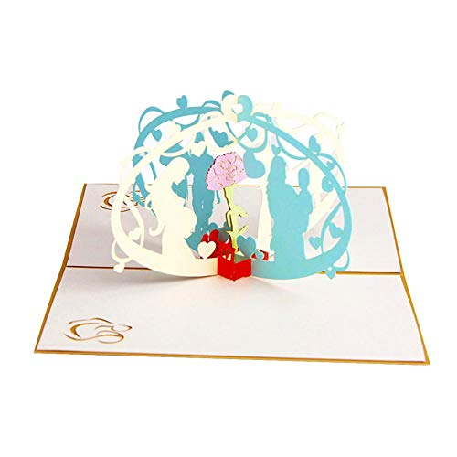 Honrik Mother's Day Greeting Card, 3D Pop Up Greeting Card with Mothers Day Card with Envelope 3D Birthday Card for Mum Special Perfect Weddings for Mother,Wife,Lover