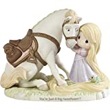 Precious Moments Rapunzel and Maximus 192013 Disney Showcase Tangled You're Just A Big Sweetheart Bisque Porcelain Figurine, Multi