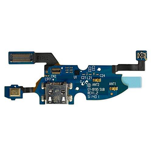 OnlyTech plat bandkabel voor USB-laadaansluiting, micro en antenne, voor Samsung Galaxy S4 Mini i9195 - Reserveonderdelen compatibel met Samsung