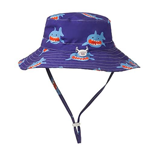 OPAKY Sombrero unisex para bebé, para niñas, bonito sombrero de playa, bordado de flores, verano, protección solar, sombrero de pescador a 50-54 cm