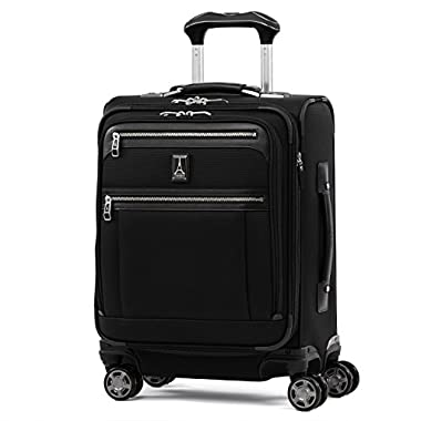 Travelpro Luggage Platinum Elite 20  Carry-on Intl Expandable Spinner with USB Port, Shadow Black