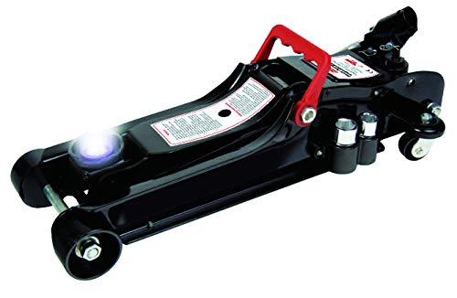 HP Autozubehör 11325 Flach-Rangierwagenheber 2.25 t mit LED, schwarz