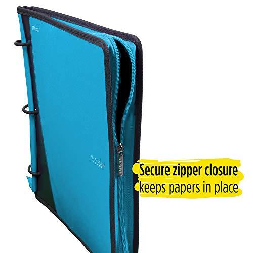 Five Star Flex Hybrid NoteBinder, 1 Inch Ring Binder, Notebook and Binder All-in-One, Teal (73420) Photo #2