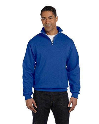 Jerzees - Sweat-Shirt - Asymétrique - Homme - Bleu - Large