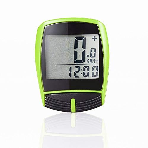 HUUATION Fahrrad-Computer-Fahrrad-Tachometer Radfahren Geschriebene Stoppuhr Kilometerzähler Computer wasserdichtes digitales Fahrrad Tachometer Fahrradzubehör (Color : Yellow)