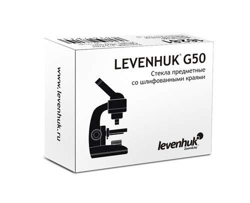 Levenhuk G50 Leere Objektträger, 50 Stck.