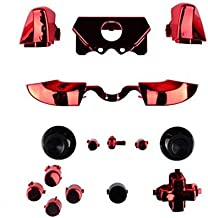 Bumpers Triggers Buttons Dpad LB RB LT RT for Xbox One Elite Controller Chrome Red