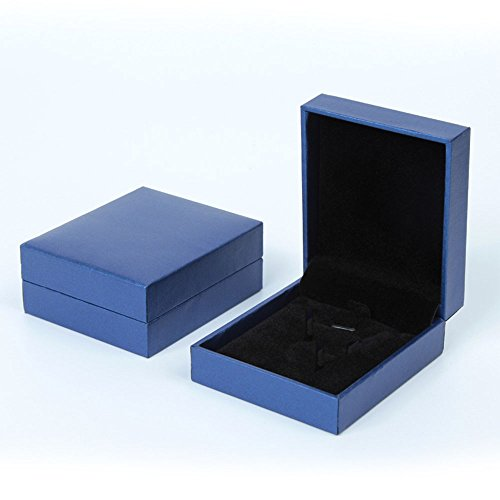 Jaetech House Jewellery Gift Presentation Gift Box for Bracelet Necklace Ring Bangle Chain Bracelet Watch Pendant Storage Display Box Case (Necklace) (Blue)