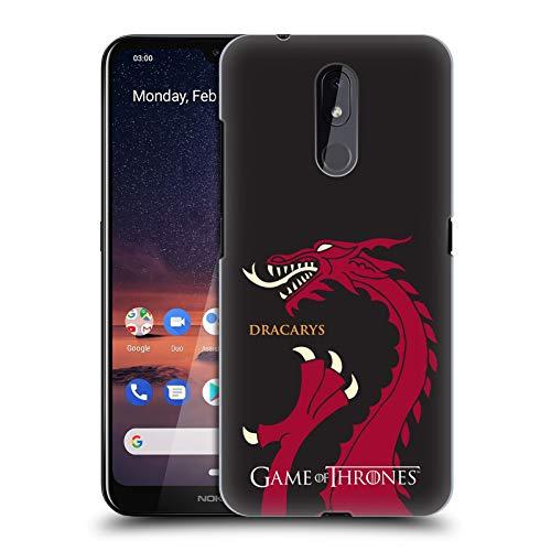Officiële HBO Game of Thrones draak Dracarys Grafische afbeeldingen Hard Back Case Compatibel voor Nokia 3.2