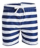 Kanu Surf Men's Riviera Swim Trunks, Troy Navy/White, Large