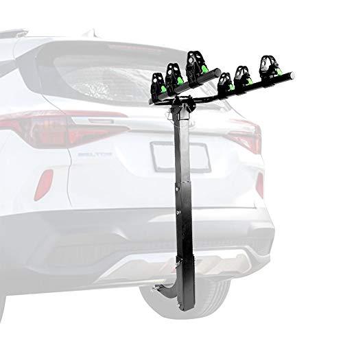 BTTHWR Anhängerkupplung 3 Fahrradträger Fahrradträger Faltbarer Gepäckträger für PKW, LKW, SUV und Minivans mit 2